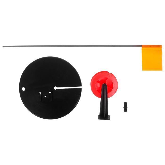 Жерлица с прямой стойкой, цвет чёрный с красной катушкой - фото 3