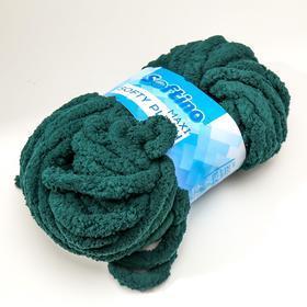Пряжа фантазийная 100 полиэстер 'Softy plush maxi' 250 гр 22 м пихтовый зелёный - фото 2