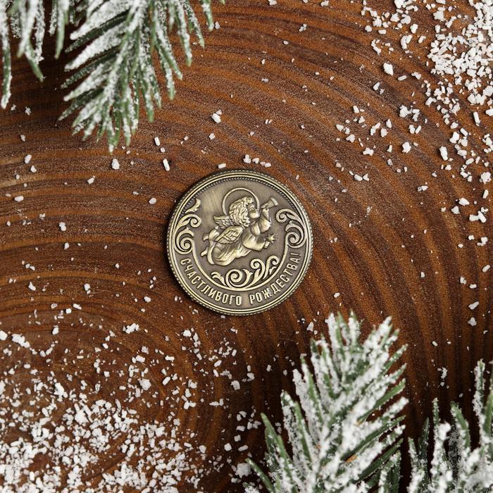 Рождественская монета-талисман «Ангел» - фото 2