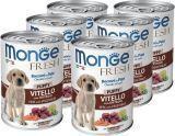 Monge Fresh (телятина с овощами), 6шт. по 400г Паштет для щенков Chunks in Loaf Veal with Vegetables Puppy