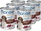 Monge Fresh 6шт.по 400г с телятиной паштет для собак Chunks in Loaf