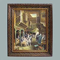 «Восточный базар» Современная интерьерная живопись.