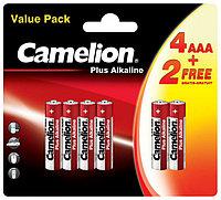 Батарейки щелочные Camelion Plus Alkaline AAA/LR03, 6 шт