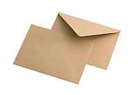Конверт из крафт бумаги, коричневый. Плотный с треугольным клапаном. Формат: А4.