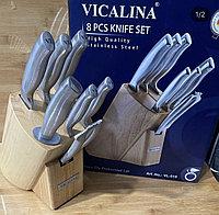 Набор ножей с литой ручкой vicalina 8 предметов, фото 1