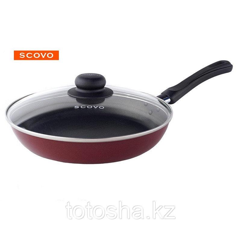 Сковорода d24 см Scovo Expert с крышкой , СЭ-028