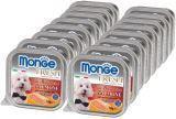 Monge Fresh 16шт.по 100г с Лососем паштет для собак Pate with Chunkies Salmone, фото 1