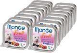 Monge Fruit 16шт.по 100г Курица с малиной Влажный корм для собак Pate & Chunkies with Chicken & Raspberry, фото 1