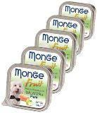 Monge Fruit  16шт по 100г Лосось с грушей Влажный корм для собак Pate & Chunkies with Salmone & Pear, фото 1