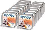Monge Fruit 16шт по 100г Утка с Апельсином Влажный корм для собак  Pate & Chunkies with Duck & Orange
