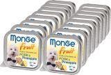 Monge Fruit 16шт. по 100г Свинина с ананасом Влажный корм для собак Pate & Chunkies with Pork & Pineapple
