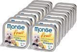 Monge Fruit 16шт. по 100г Свинина с ананасом Влажный корм для собак Pate & Chunkies with Pork & Pineapple, фото 1