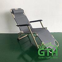 Складной шезлонг 3в1: кресло, шезлонг, раскладушка. Нагрузка 120 кг.