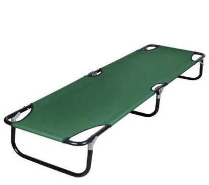 Раскладушка складная 190х55х25см, зеленая - фото 1