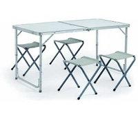 Стол складной 120х60х55/70см+ 4 стула