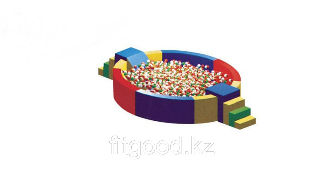 Сухой бассейн с лестницей