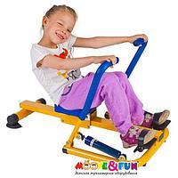 Тренажер детский механический гребной с двумя рукоятками 3-8 лет