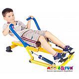 Тренажер детский механический гребной с двумя рукоятками 3-8 лет, фото 2