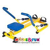 Тренажер детский механический гребной с двумя рукоятками 3-8 лет, фото 3