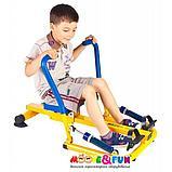 Тренажер детский механический гребной с двумя рукоятками 3-8 лет, фото 4