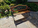 Скамейка садовая со спинкой, фото 2