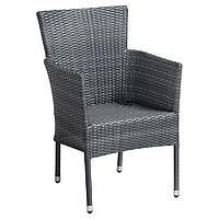 Кресло-стул плетенный из ротанга с подушками (коричневый)