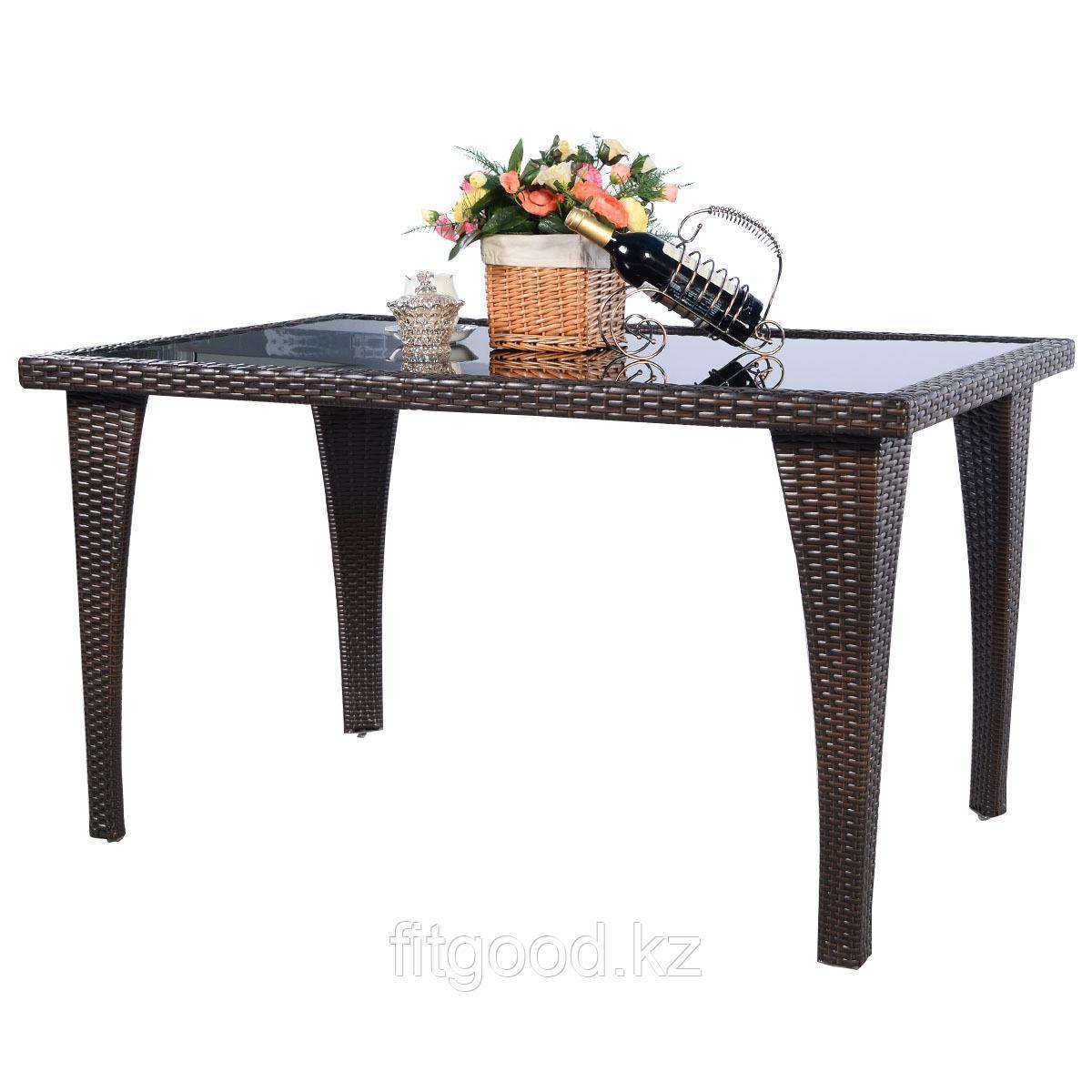 Стол прямоугольный из ротанга 1300*800*720