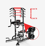 Силовой тренажер 5в1 - турник, пресс, брусья, отжимание + скамья, фото 3