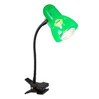 Настольная лампа CLIP 1x40Вт E14 R50 зеленый 28x34см