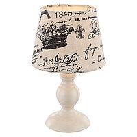 Настольная лампа METALIC 1x40Вт E14 бежевый 17x17x28см