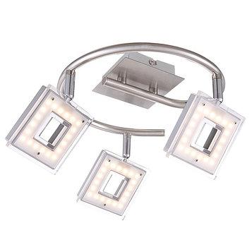 Спот KERSTIN 3x3,3Вт LED матовый никель 45x45x18см