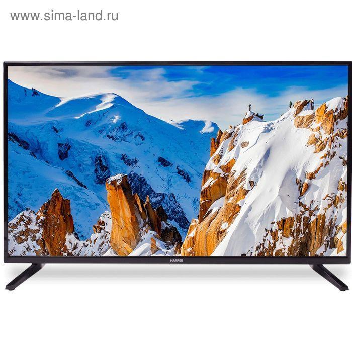 """Телевизор Harper 43F660TS, 43"""", 1920x1080, Smart TV, DVB-T2/С, 3xHDMI, 1xUSB, черный - фото 1"""
