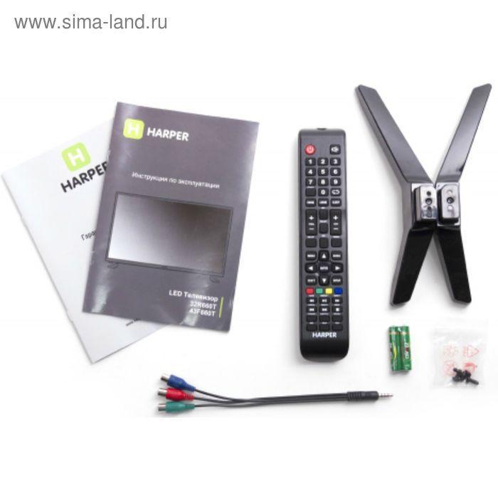 """Телевизор Harper 43F660TS, 43"""", 1920x1080, Smart TV, DVB-T2/С, 3xHDMI, 1xUSB, черный - фото 2"""