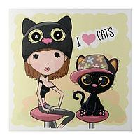 """Картина """"Я люблю кошек"""" 35х35 см"""