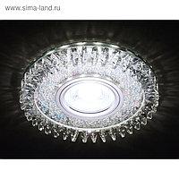 Светильник встраиваемый светодиодный, G5.3, 3Вт, цвет хром, d=65 мм