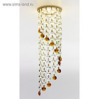 Светильник встраиваемый, MR16, GU5.3, цвет золото, d=60 мм