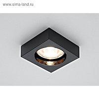 Светильник встраиваемый, MR16, GU5.3, цвет черный, d=65 мм