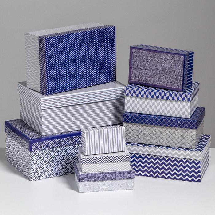 Набор коробок 10 в 1 «Орнамент», 32,5 × 20 × 12,5 - 12 × 7 × 4 см - фото 1
