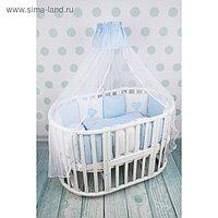 Комплект в кроватку Premium Кроха, 18 предметов, голубой