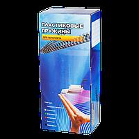 Пластиковые пружины для переплета (12 мм/105) белые (100 шт в пач)