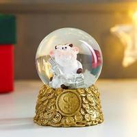 Сувенир полистоун водяной шар 'Коровка-улыбака с пачками денег' d4,5 см МИКС 6х4,5х4,5 см (комплект из 12 шт.)