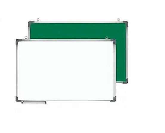 Доска магнитно-маркерная, меловая двухсторонняя Office 90x180 см