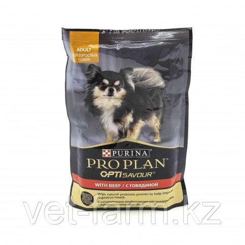 Влажный Корм Purina Pro Plan Для Собак Мелких И Карликовых Пород, C Говядиной В Соусе, Пауч, 100 Г