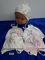 Шапочка весна-лето для новорождённой девочки. Фирма Magrof