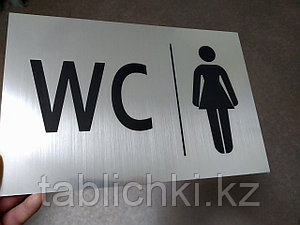 Таблички для сан узлов. WC. На туалет