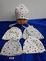 Шапочка для новорождённой девочки. Фирма Magrof