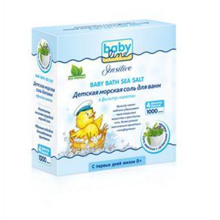 Babyline Nature 1000 гр соль морская д/ ванн детская с целебными травами