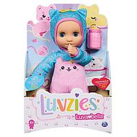Мягкая кукла в комбинезоне с котёнком от Лювабеллы   LUVZIES