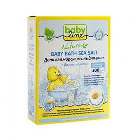 Babyline Nature 500 г соль морская д/ ванн с ромашкой
