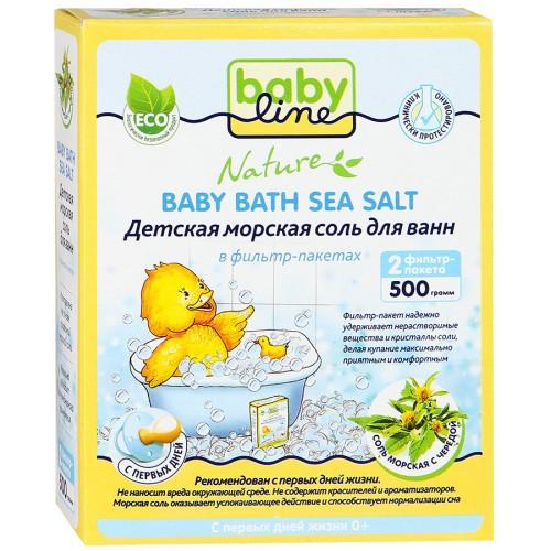 Babyline Nature 500 г соль морская д/ ванн с чередой